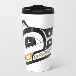 Northwest Pacific American Native Totem In Gold No. 11 Travel Mug