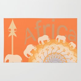 Africa elefants Rug