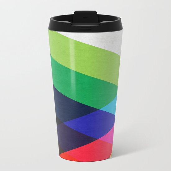 Abstract and minimalist pattern Metal Travel Mug
