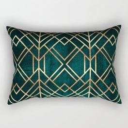 Dark Teal Geo Rectangular Pillow