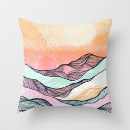 Sunset Mountain Morning  Throw Pillow