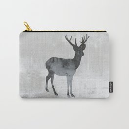Snowing Deer Carry-All Pouch