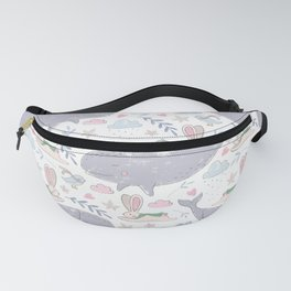 Whales and Bunnies Fanny Pack