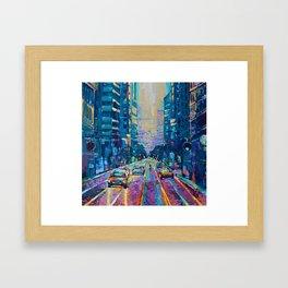 Streets of San Francisco - modern urban city landscape at sunrise by Adriana Dziuba Framed Art Print