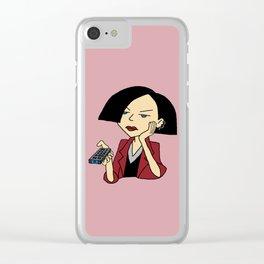 Jane Lane Clear iPhone Case