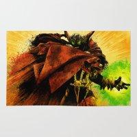 spawn Area & Throw Rugs featuring Hellspawn by Fresh Doodle - JP Valderrama