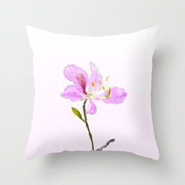 purple Buahinia Throw Pillow