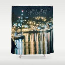 Bright Nights, City Lights Shower Curtain