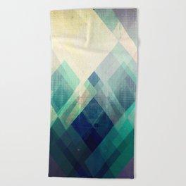 Mountains print, Abstract print, geometric wall art, abstract mountain, minimalist art, modern art, Beach Towel