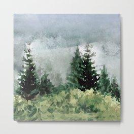 Pine Trees 2 Metal Print
