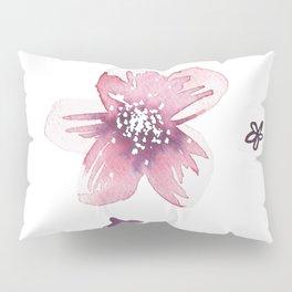 Lilac Pink Watercolour Fiordland Flower Pillow Sham