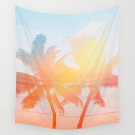 Tropicana seas - sundown Wall Tapestry