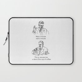 Dale Cooper: Damn fine cup of coffee Laptop Sleeve