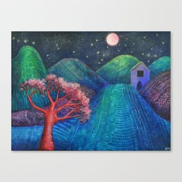 Spanish Mountain with Casita Canvas Print