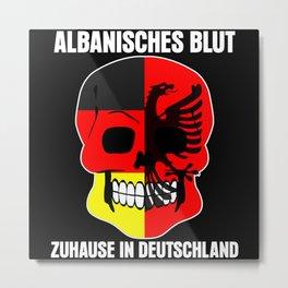 Albania - Skull Albanians Saying Metal Print