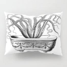 Tentacles in the Tub | Octopus | Black and White Pillow Sham