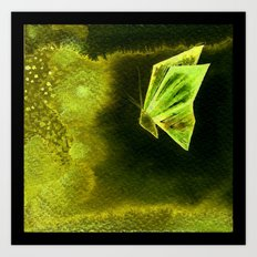 Butterfly Origami 2 Art Print