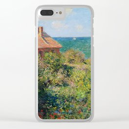 Fisherman's Cottage on the Cliffs at Varengeville Claude Monet Clear iPhone Case