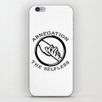 divergent iPhone & iPod Skins featuring Divergent - Abnegation The Selfless by Lunil