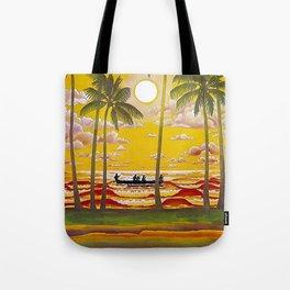 Surf Hawaii, Outrigger, Hawaiian Sunset Portrait Tote Bag