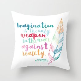 Alice In Wonderland | Quote 1 Throw Pillow