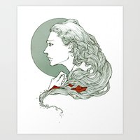 voyage Art Prints featuring Voyage by Sheryn Ng (rynisyou)