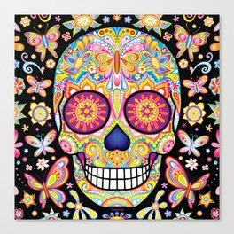 Sugar Skull Art (Mariposa) Canvas Print