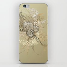 50 Shades of lace Gold Gold iPhone Skin