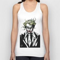 the joker Tank Tops featuring Joker. by CJ Draden