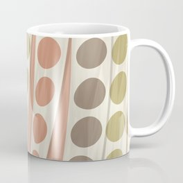 Faux Silky Ribbon Streamers in Muted Colors Brown Green Coral Yellow Gold Coffee Mug