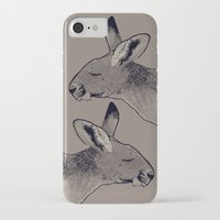 kangaroo iPhone & iPod Cases featuring Kangaroo by Goodnight Silver