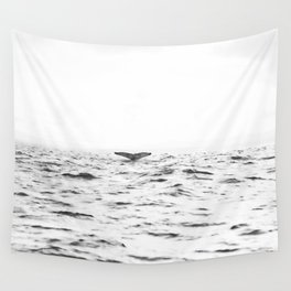 WHITE - SEA - WAVES - WATER - WHALE - NATURE - ANIMAL - PHOTOGRAPHY Wall Tapestry