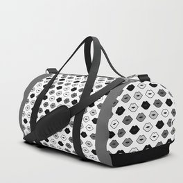 Chessboard Lips - Black and White Duffle Bag