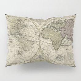 Terrestrial Planisphere Globe Pillow Sham