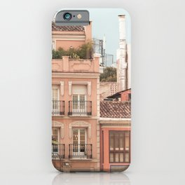 Mediterranean City - Houses and Street iPhone Case