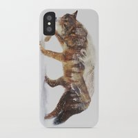 snow iPhone & iPod Cases featuring Arctic Wolf by Andreas Lie