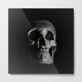 Low Key Skull Metal Print
