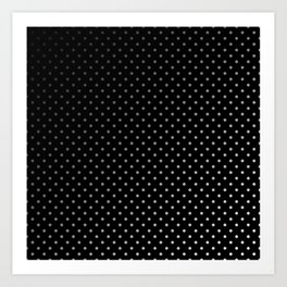 Mini Licorice Black with Faded White Polka Dots Art Print