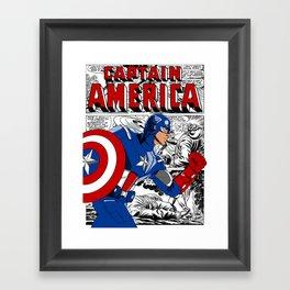 Captain 'merica Comic Framed Art Print