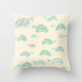 turtle mania Throw Pillow
