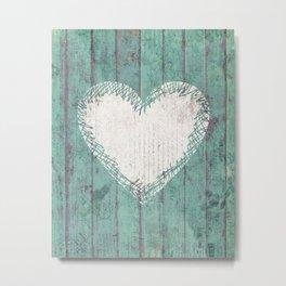 Rustic Heart Metal Print