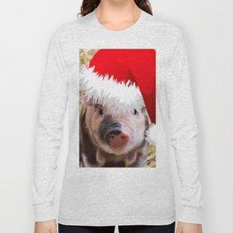 Cute little Christmas Piglet Long Sleeve T-shirt