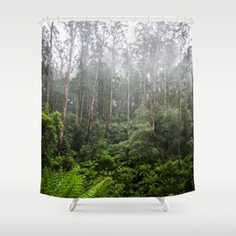 Forest and Fog Shower Curtain