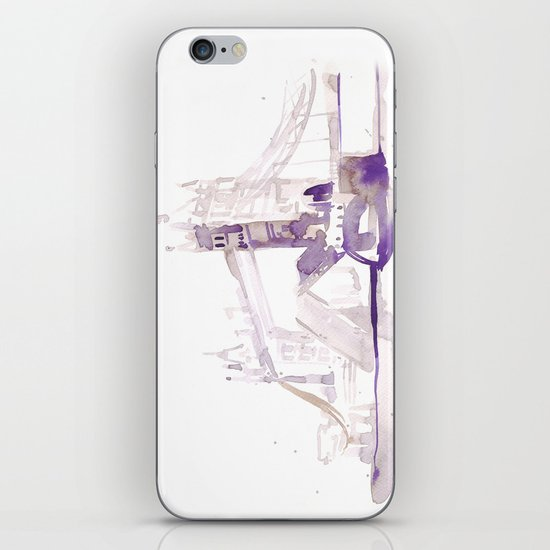 Watercolor landscape illustration_London Bridge iPhone & iPod Skin