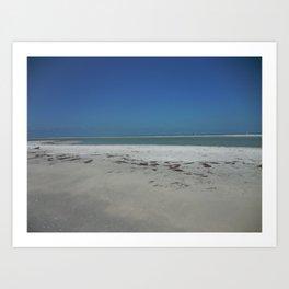 Sandbar in Gulf of Mexico Art Print