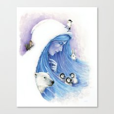 Lady Winter / Dame Hiver Canvas Print