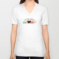 always sunny V-neck T-shirts featuring Always sunny by Schwebewesen • Romina Lutz