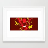 the flash Framed Art Prints featuring Flash by Timothy Wood
