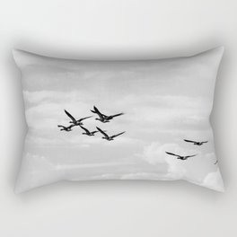 Wild Geese Flying In the Sky Rectangular Pillow