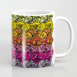 Escher FIsh Rainbow Pattern Coffee Mug
